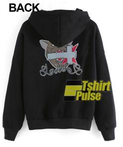 Cross bite by the Dog hooded sweatshirt clothing unisex