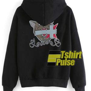 Cross bite by the Dog hooded sweatshirt clothing unisex hoodie