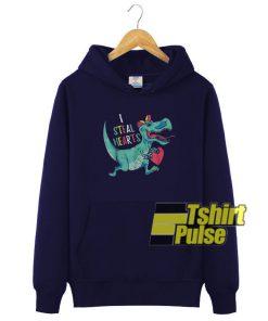 Dinosaur I Steal Hearts hooded sweatshirt clothing unisex hoodie