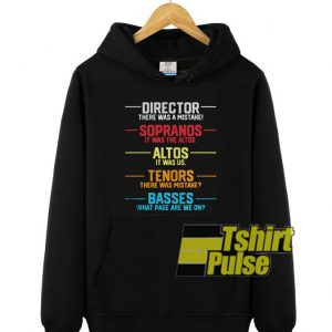 Director there was a mistake hooded sweatshirt clothing unisex hoodie