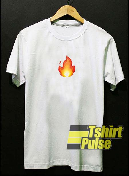 Fire Emoji t-shirt for men and women tshirt