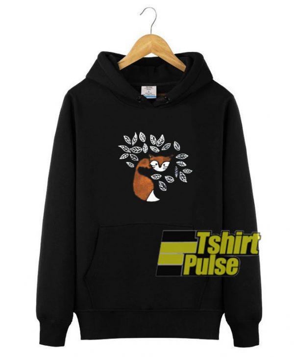 Fox hooded sweatshirt clothing unisex