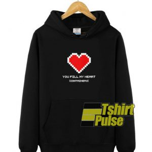 Heart Container hooded sweatshirt clothing unisex hoodie