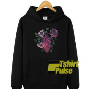 Heart Floral hooded sweatshirt clothing unisex hoodie