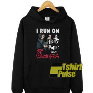 I run on Harry Potter hooded sweatshirt clothing unisex hoodie