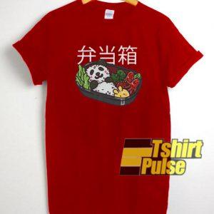 Japanese Panda Bear Sushi t-shirt for men and women tshirt