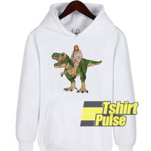 Jesus on a Dinosaur hooded sweatshirt clothing unisex hoodie