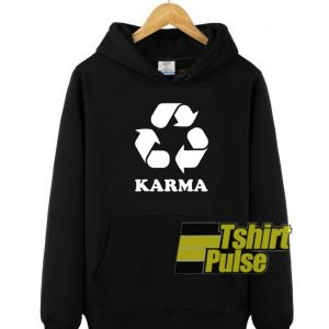 Karma hooded sweatshirt clothing unisex hoodie