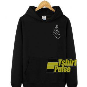 Korenan Love Symbol Print hooded sweatshirt clothing unisex hoodie