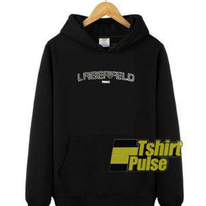 Lagerfeld Paris hooded sweatshirt clothing unisex hoodie