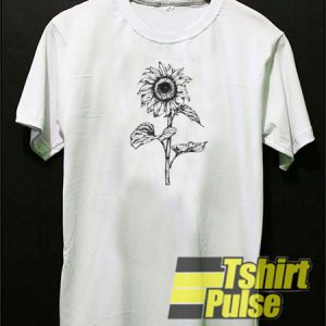 Large Sunflower t-shirt for men and women tshirt