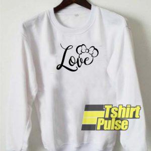 Love sign Disney sweatshirt