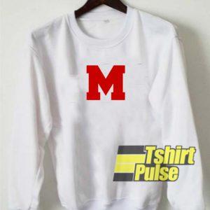 M Font sweatshirt