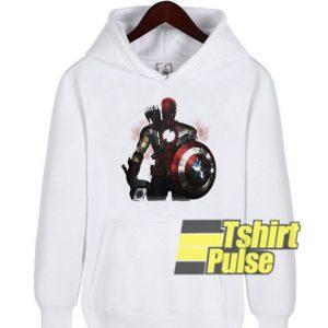 Marvel All avengers heroes in one hooded sweatshirt clothing unisex hoodie