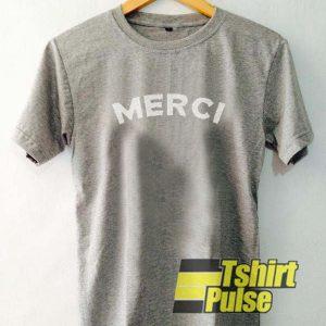 Merci t-shirt for men and women tshirt