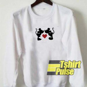 Mickey Minnie Love sweatshirt