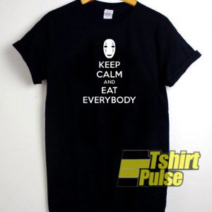 No face keep calm t-shirt for men and women tshirt