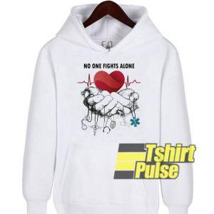 No one fights alone hooded sweatshirt clothing unisex hoodie