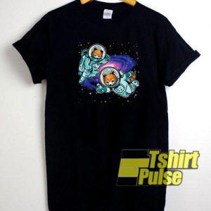 Panda Astronaut t-shirt for men and women tshirt