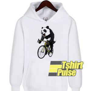 Panda Ride Bike hooded sweatshirt clothing unisex hoodie