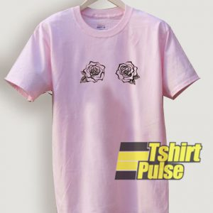Rose boob t-shirt for men and women tshirt