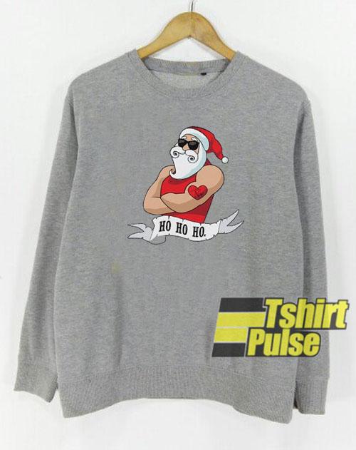 Santa Claus Print sweatshirt