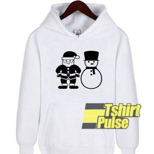 Santa Snowman hooded sweatshirt clothing unisex hoodie