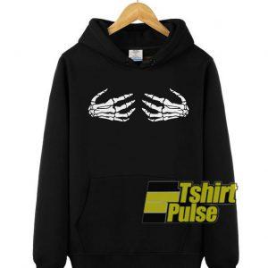 Skeleton Hands on Boobs hooded sweatshirt clothing unisex hoodie