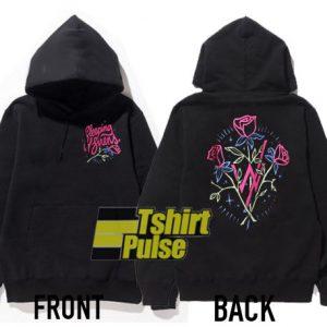 Sleeping With Sirens Pink Roses hooded sweatshirt clothing unisex hoodie