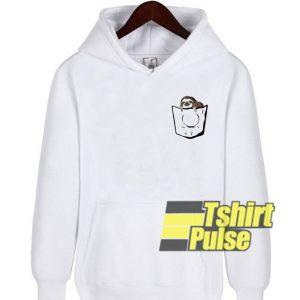 Sloth Pocket Print hooded sweatshirt clothing unisex hoodie