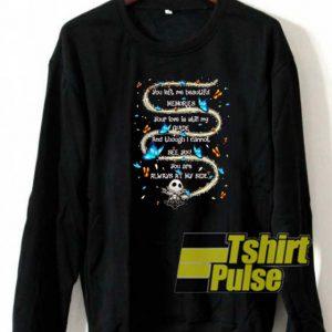 Snoopy you left me beautiful sweatshirt