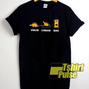 Solid Liquid Gas t-shirt for men and women tshirt