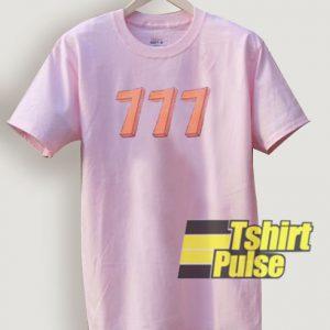 Triple 7 t-shirt for men and women tshirt