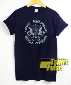 True Religion Crew Neck World Tour t-shirt for men and women tshirt