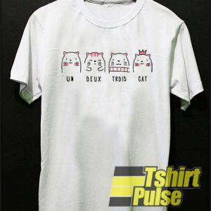 Un Deux Trois Cat t-shirt for men and women tshirt
