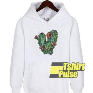 Watercolor Cactus hooded sweatshirt clothing unisex hoodie