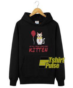 We All MEOW Down hooded sweatshirt clothing unisex hoodie