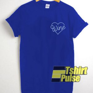 Wine Heart Pocket t-shirt for men and women tshirt