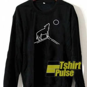 Wolf Howling Moon sweatshirt