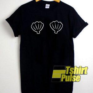 mermaid shell t-shirt for men and women tshirt