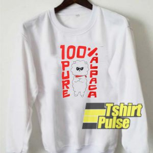 100% Pure Alpaca sweatshirt