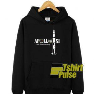 Apollo XI 50th anniversary hooded sweatshirt clothing unisex hoodie