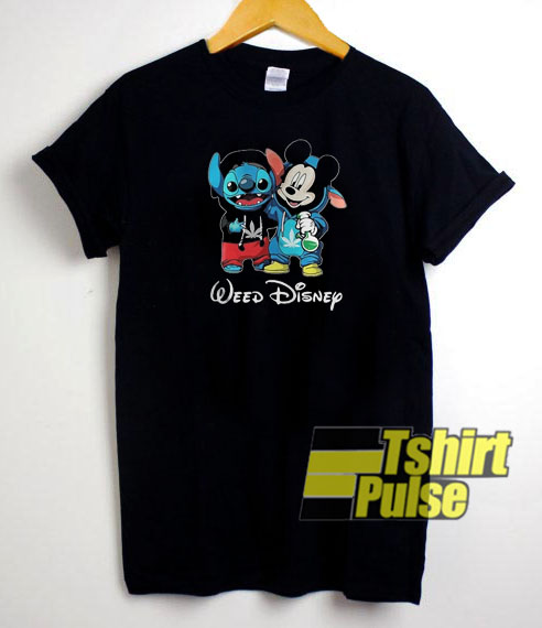 Baby Stitch and Mickey mouse t-shirt for men and women tshirt