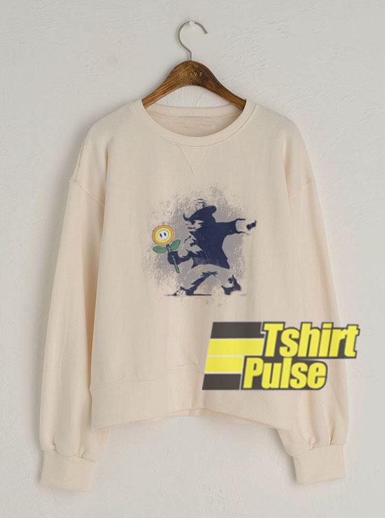 Banksy flower sweatshirt