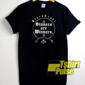 Black Craft Sinners Are Winners t-shirt for men and women tshirt