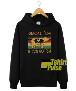 Cow pig chicken smoke'em hooded sweatshirt clothing unisex