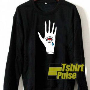 Crying third eye in hand sweatshirt