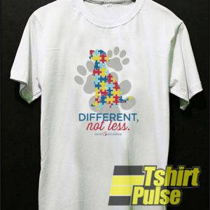 Different Not less Autism t-shirt for men and women tshirt