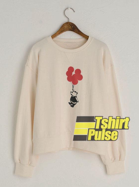 Flying Balloon Bear sweatshirt