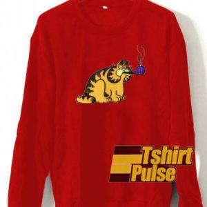 Garfield with pipe sweatshirt